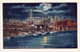 SCHUYLKILL RIVER FRONT BY NIGHT PHILADELPHIA PA - United States - Stati Uniti