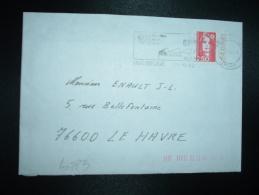 LETTRE TP MARIANNE DE BRIAT 2,50 BORD CARNET DATE 5.24.06.92 OBL.MEC.21-10-1992 MAUBEUGE (59 NORD) - 1989-96 Marianna Del Bicentenario