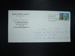 """LETTRE ASSOCIATION PHILATELIQUE SOTTEVILLAISE """"ALBERT DECARIS"""" TP Par De La Guadeloupe 3,00 OBL.MEC.16-6-1997 SOTTEVILLE - Non Classés"""