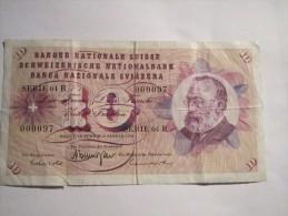 --1- Billet 10 Francs-serie-64.R--SUISSE-1970-qualite--TB++- - Suiza