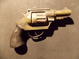 Revolver Pistolet JOUET Metal  Coibel Agente 007 Made In Spain Revolver Jouet Vintage Petards Colt - Altri