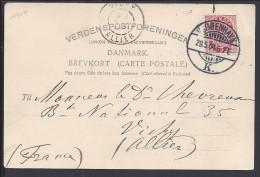 "DANEMARK  - 1904 - CORRESPONDANCE DE KOBENHAVN SUR CARTE POSTALE "" RAADHUSET "" VERS VICHY - FR - - 1864-04 (Christian IX)"
