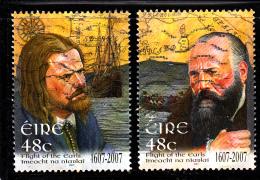 Ireland Used Scott #1706-#1707 Set Of 2 Flight Of The Earls 400th Anniversary - Oblitérés