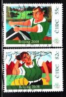 Ireland Used Scott #1793-#1794 Set Of 2 Rowing, Shot Put - 2008 Summer Olympics - 1949-... Repubblica D'Irlanda