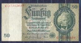 Germany - 1933- 50 Mark   L/C  -    ( VF ) .P-182a ...R 175c - 50 Reichsmark