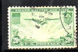Y1657 - STATI UNITI USA 1937 , Posta Aerea  N. 21  Usato - 1a. 1918-1940 Used