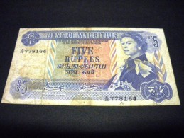 MAURICE 5 Rupees 1967, Pick N°30 C, MAURITIUS - Mauritius