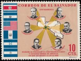 SALVADOR EL - Scott #789 Meeting Of U.S. President Lyndon B. Johnson, With Central American Presidents  (*) / Used Stamp - El Salvador