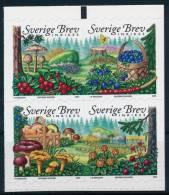 Sweden Schweden Mushrooms Self Adhesive Pilze Set (2) °BM0753 MNH - Pilze