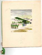 MENU -TRANSPORTS AERIENS INTERCONTINENTAUX LIGNE CASABLANCA -PARIS 1956  Cabine 1ER CLASSE - Menu