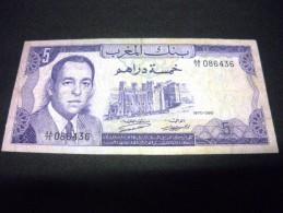 MAROC 5 Francs 1970, Pick N°56 A, MOROCCO - Marokko