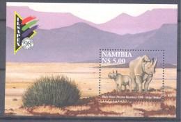Namibia 1998 Mint MNH **: Nashorn Rhino Rinoceronte Black Rhinoceros (Diceros Bicornis) - Rhinozerosse