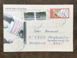 C19 Niederlande Netherlands Pays-Bas Ganzsache Stationary Entier Mi. AÄK 50 Enschede Nach Herford - Postwaardestukken