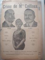 POLITIQUE/CRIME Mme CAILLAUC CALMETTE / IZENIC /AIR SOUS LES PONTS DE PARIS - Partitions Musicales Anciennes