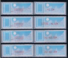 ATM, LISA 1,PAPIER CARRIER, SUPPORT BLEU,SERIE  4 VALEURS DE BASE,0.10 Sans Mention, LETTRE 4.40/  J+1 13.00/ J+2 17.00 - 1985 Papier «Carrier»