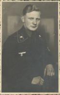 Soldaten-Portrait, Panzer-Fahrer, Totenkopf, Foto-Postkarte, Deutsche Wehrmacht, Drittes Reich - War 1939-45