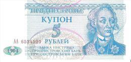 Transnistria - Pick 17 - 5 Rublei 1994 - Unc - Altri – Europa