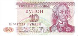Transnistria - Pick 18 - 10 Rublei 1994 - Unc - Banconote