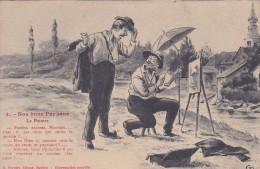 """58 NIEVRE MORVAN HUMORISTIQUE NOS BON PAYSANS   """" Le Peintre  """" N° 3 - Non Classés"""