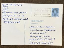 C19 Niederlande Netherlands Pays-Bas Ganzsache Stationary Entier Mi. P 304II Enschede Nach Bielefeld - Postwaardestukken
