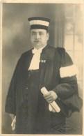 CARTE PHOTO - JUGE à CLERMONT-FERRAND - 1932 - THEME; JUSTICE - MAGISTRATURE - VOIR SCANS. - Professions