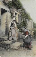 Vie à La Ferme: Leçon De Charité - Carte E.L.D. Colorisée, Non Circulée - Fattorie