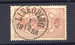 03758   -   Suède  -  Services  :   Mi  10 B  (o)  Dentelé 13 , Obl.LINKOPING - Service