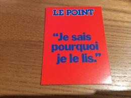 """Calendrier 1988 """"Je Sais Pourquoi Je Lis - LE POINT (journal)"""" (7,5x10,2cm) - Kalenders"""