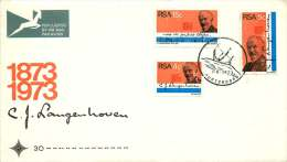 1973   C.J. Langenhoven And National Anthem  Complete Set On FDC - FDC