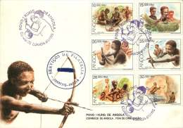 1995  Tribal Culture Set Of 6 On Single FDC - Angola