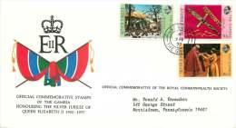 1977  Queen Elizabeth Silver Jubilee   Set On FDC - Gambia (1965-...)