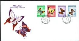 1984  Butterflies  Complete Set On Single FDC - Malawi (1964-...)