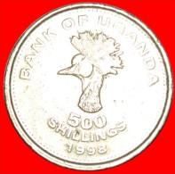 ★CRANE: UGANDA ★ 500 SHILLINGS 1998! LOW START ★ NO RESERVE! - Ouganda