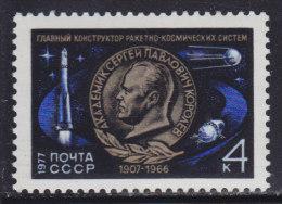 3987. Russia, USSR, 1977, Sergei Pavlovich Korolev, MNH (**) Michel 4569 - 1923-1991 USSR
