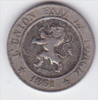 BELGIQUE LEOPOLD Ier   10 CENTIMES  ANNEE 1861 TYPE CUPRO-NICKEL   LOT 256 - 1831-1865: Léopold I
