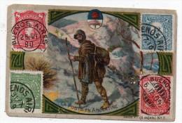 Chromo Concours SODEX - La Poste En Argentine - (timbres) - Old Paper