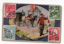 Chromo Concours SODEX - La Poste En Hongrie - (timbres) - Old Paper
