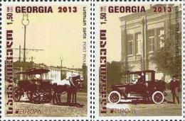 Georgia Georgien 2014 Mi. 655-656 Europe Stamps Post 2013 Transport System - Georgia