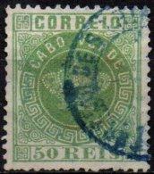 ANGOLA - 50 R. Vert De 1877 Oblitéré Dentele 12 1/2 TB - Cap Vert