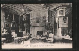 CPA Luchon, Château De Combemale, Le Grand Salon - Luchon
