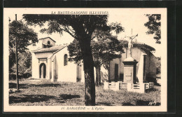 CPA Saiguéde, L'église - France