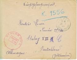 FRANCE  TO  GERMANY  COVER  POW  STALAG  XIII C - WW II