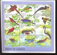 GHANA    1687 ** ;MINT NEVER HINGED MINI SHEET OF BIRDS - Birds
