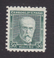 Czechoslovakia, Scott #168a, Mint Hinged, Masaryk, Issued 1930 - Unused Stamps
