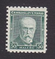 Czechoslovakia, Scott #168a, Mint Hinged, Masaryk, Issued 1930 - Czechoslovakia