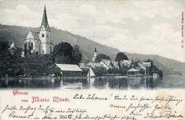 Gruss Aus MARIA WÖRTH (Kärnten) - Gel.1899, 2 Kreuzer Frankierung - Maria Wörth