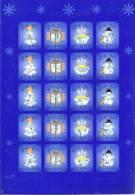Feuille De Vignettes De Noël Des Iles Aland 2002 Neuve - Aland