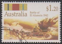AUSTRALIA - USED 1992 $1.20 World War II - Australian's Under Fire - El Alamein 1942 - Army Tanks - 1990-99 Elizabeth II