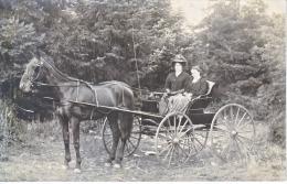 OREGON  HORSE & BUGGY  REAL  PHOTO  1909  To  BAKER  CITY, OREGON - United States