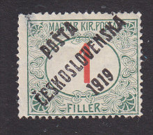 Czechoslovakia, Scott #B115, Mint Hinged, Hungarian Postage Due Overprinted, Issued 1919 - Unused Stamps
